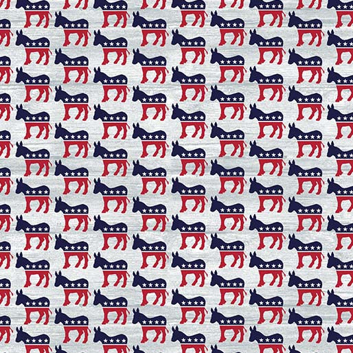 Donkeys,  Your Vote Counts  - Fabric by the yard.