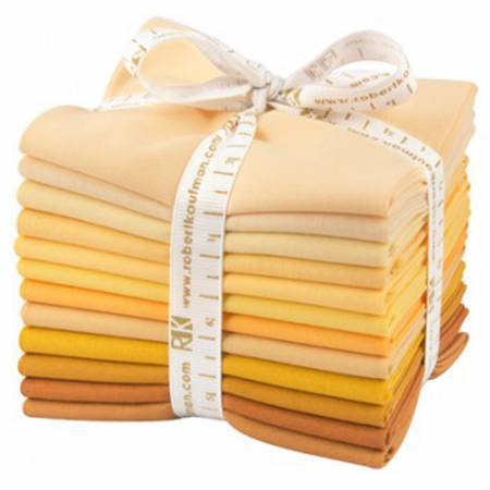 Kona Cotton Fat Quarter Bundle - Mustard Seed