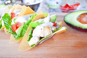 Coconut Wrap Chicken Tacos