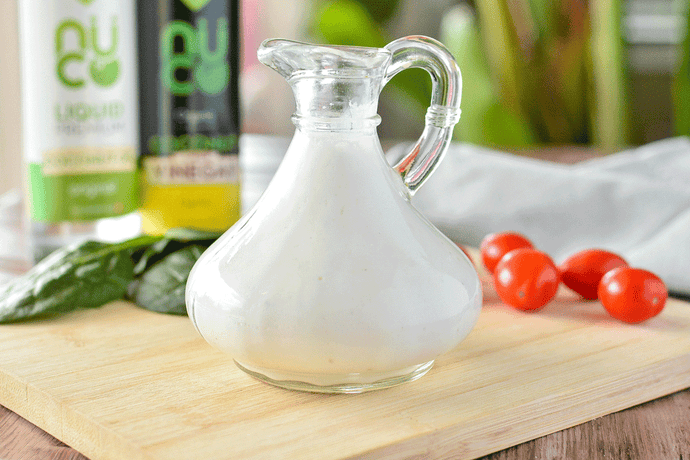 Creamy Coconut Greek Yogurt Salad Dressing