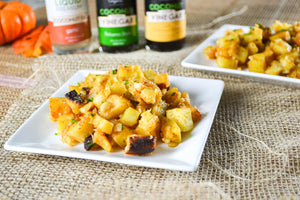 Roasted Sweet Potato Macadamia Nut Salad