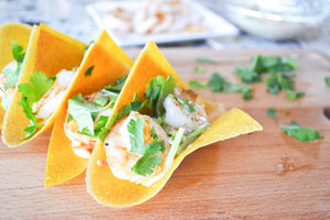 Turmeric Coconut Wrap Shrimp Tacos