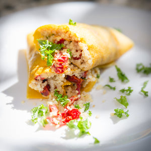 Sun-Dried Tomato Quinoa Coconut Wrap