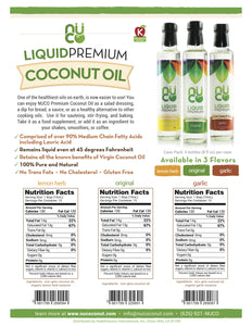 NUCO Liquid Premium Coconut Oil - with MCTs (8 FL OZ)