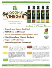 NUCO Organic Coconut Vinegar, with Mother (8 FL OZ)