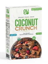 Gluten Free and Grain Free Cereal. Plant based 100% made from organic coconuts.