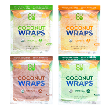 NUCO Organic Coconut Wraps are a Paleo, Vegan, and Gluten & Grain-Free alternative to bread and tortillas - plus they are Raw!