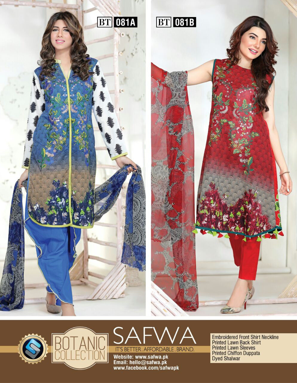 bb41bc7434 Safwa Botanic Collection Online Shopping Pakistan for women clothing  dresses suits