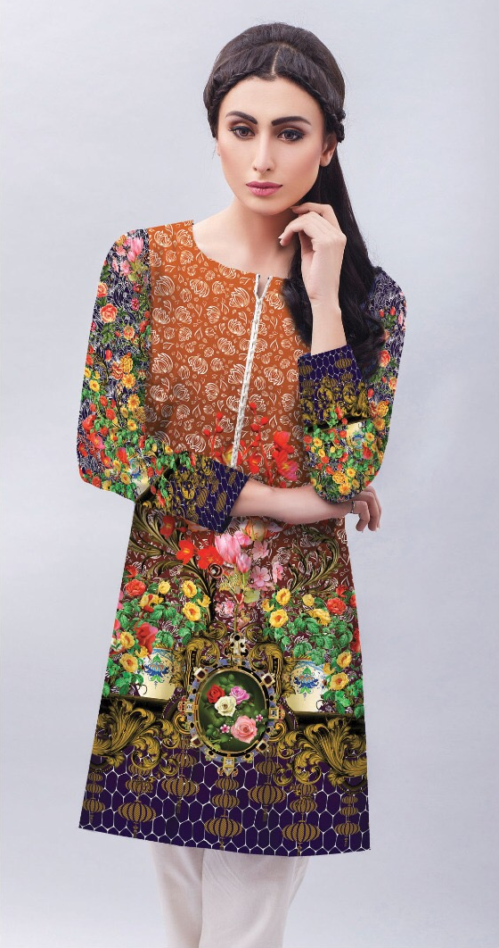 Safwa Digital Karandi Kurti Shirts Collection Pakistani Clothes Online Shopping Pakistan