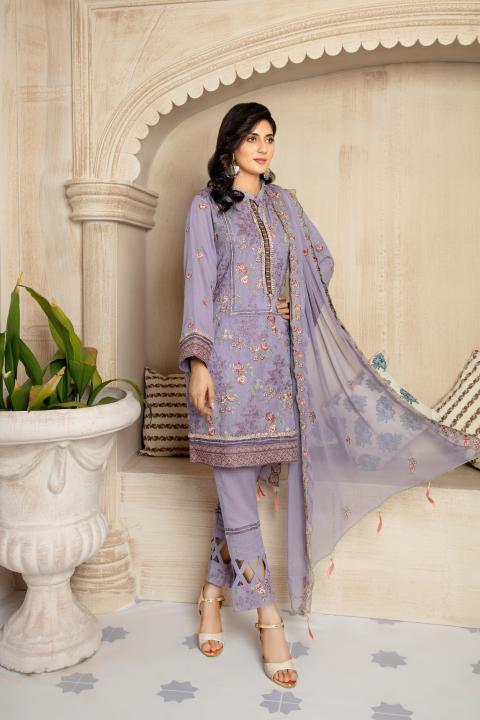 SRC-003 - SAFWA REBON EMBROIDERED KARANDI-3 PIECE COLLECTION -SHIRT Trouser and Duptta |SAFWA DRESS DESIGN| DRESSES | PAKISTANI DRESSES | SAFWA -SAFWA Brand Pakistan online shopping for Designer Dresses