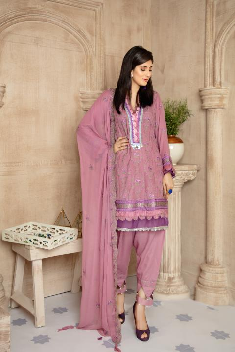 SRC-006 - SAFWA REBON EMBROIDERED KARANDI-3 PIECE COLLECTION -SHIRT Trouser and Duptta |SAFWA DRESS DESIGN| DRESSES | PAKISTANI DRESSES | SAFWA -SAFWA Brand Pakistan online shopping for Designer Dresses