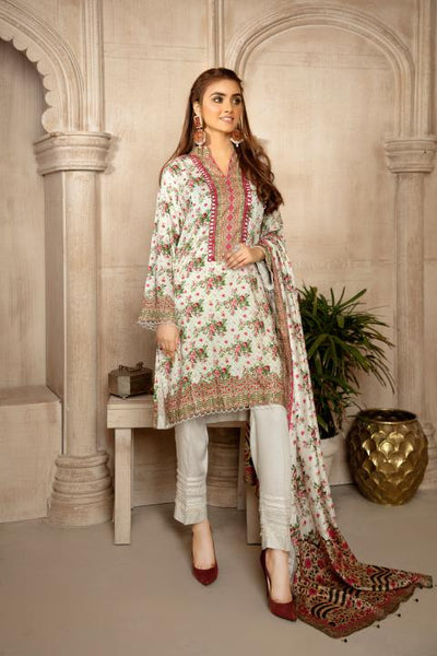 MCS-008 - SAFWA DIGITAL VISCOSE MOTHER'S 3 PIECE DRESS COLLECTION VOL 1 2020- VISCOSE KAMEEZ - VISCOSE TROUSER - VISCOSE DUPATTA - Safwa Pakistan Fashion