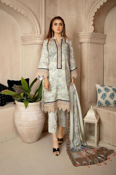 MCS-010 - SAFWA DIGITAL VISCOSE MOTHER'S 3 PIECE DRESS COLLECTION VOL 1 2020- VISCOSE KAMEEZ - VISCOSE TROUSER - VISCOSE DUPATTA - Safwa Pakistan Fashion