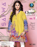 SC-01 - SAFWA PREMIUM LAWN - CHASE COLLECTION - DIGITAL  - SHIRT