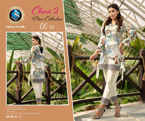 CP-01 SAFWA PREMIUM LAWN - CHASE COLLECTION - DIGITAL 2 PIECE COLLECTION - safwa