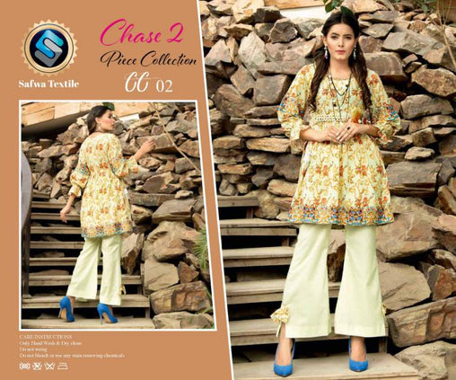 CP-02 SAFWA PREMIUM LAWN - CHASE COLLECTION - DIGITAL 2 PIECE COLLECTION - safwa