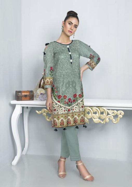 ST 02-SAFWA SANRITA LAWN COLLECTION VOL 1 2020- PRINTED -2 PIECE DRESS