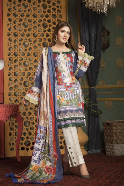 SL-03 -SAFWA LAWN-SALVIA COLLECTION VOL 01 2020 - PRINTED -2 PIECE DRESS - Safwa |Dresses| Pakistani Dresses| Fashion|Online Shopping