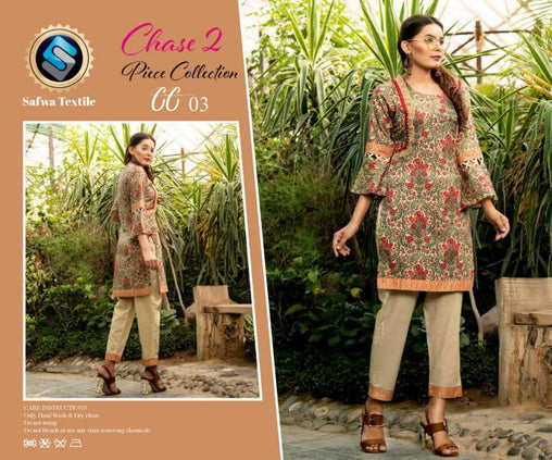 CP-03 SAFWA PREMIUM LAWN - CHASE COLLECTION - DIGITAL 2 PIECE COLLECTION - safwa