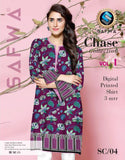 SC-04 - SAFWA PREMIUM LAWN - CHASE COLLECTION - DIGITAL  - SHIRT