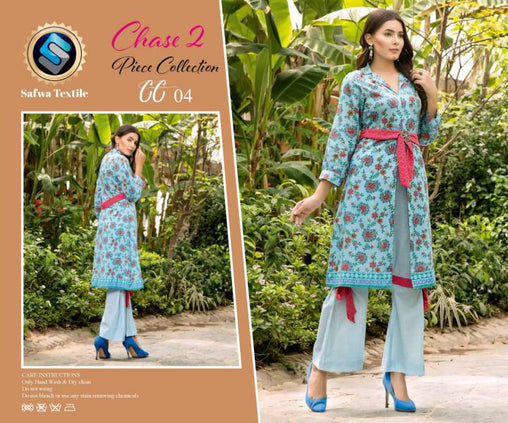 CP-04 SAFWA PREMIUM LAWN - CHASE COLLECTION - DIGITAL 2 PIECE COLLECTION - safwa