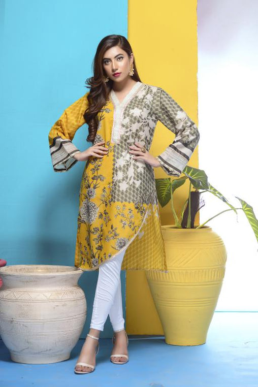 DM-05 -SAFWA DIGITAL PRINTED LAWN-MESURI COLLECTION-DIGITAL LAWN SHIRT - Safwa-Pakistani Dresses-Dresses-Kurti-Shop Online