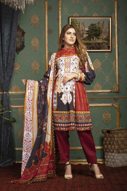 SL-06 -SAFWA LAWN-SALVIA COLLECTION VOL 01 2020 - PRINTED -2 PIECE DRESS - Safwa |Dresses| Pakistani Dresses| Fashion|Online Shopping