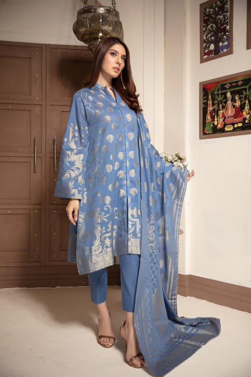 JC-07-SAFWA JACQUARD Lawn Cotton COLLECTION Vol 1 2020 - 3 PIECE DRESS - Safwa | Dresses | Pakistani Dresses | Fashion| Online Shopping