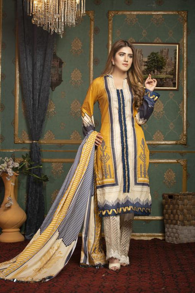 SL-07 -SAFWA LAWN-SALVIA COLLECTION VOL 01 2020 - PRINTED -2 PIECE DRESS - Safwa |Dresses| Pakistani Dresses| Fashion|Online Shopping