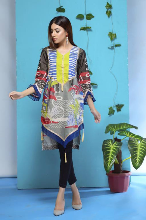 DM-08 -SAFWA DIGITAL PRINTED LAWN-MESURI COLLECTION-DIGITAL LAWN SHIRT - Safwa-Pakistani Dresses-Dresses-Kurti-Shop Online
