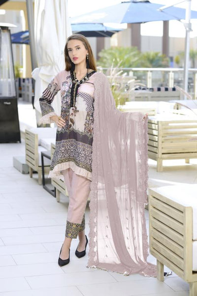 SN-07 - SANRITA COLLECTION VOL 1 3 PIECE SUIT 2020-Three Piece Suit-SAFWA -SAFWA Brand Pakistan online shopping for Designer Dresses SAFWA DRESS DESIGN, DRESSES, PAKISTANI DRESSES