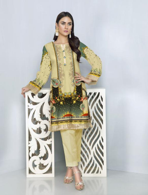 ST 07-SAFWA SANRITA LAWN COLLECTION VOL 1 2020- PRINTED -2 PIECE DRESS