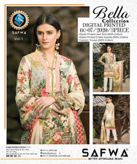 BC-07 - BELLA COLLECTION - 3 PIECE SUIT 2020-Three Piece Suit-SAFWA -SAFWA Brand Pakistan online shopping for Designer Dresses SAFWA DRESS DESIGN, DRESSES, PAKISTANI DRESSES
