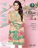 SC-07 - SAFWA PREMIUM LAWN - CHASE COLLECTION - DIGITAL  - SHIRT