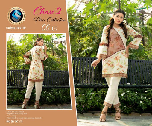 CP-06 SAFWA PREMIUM LAWN - CHASE COLLECTION - DIGITAL 2 PIECE COLLECTION - safwa