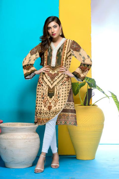 DM-18-SAFWA DIGITAL PRINTED MESURI SHIRT COLLECTION 2020 - MESURI LAWN SHIRT-KURTI