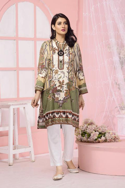CST-08 - SAFWA DIGITAL COTTON SATIN PRINT KURTI COLLECTION -SHIRT| KURTI | KAMEEZ -SAFWA BRAND PAKISTAN , DRESS DESIGN, DRESSES , PAKISTANI DRESSES