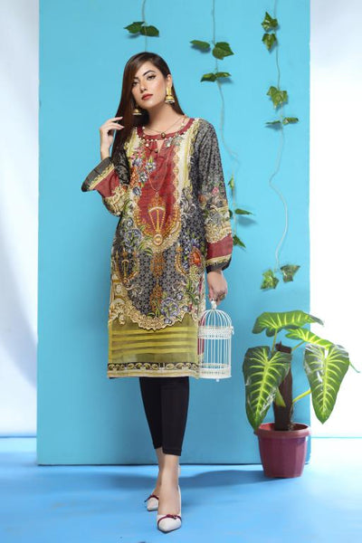 DM-09 -SAFWA DIGITAL PRINTED LAWN-MESURI COLLECTION-DIGITAL LAWN SHIRT - Safwa-Pakistani Dresses-Dresses-Kurti-Shop Online