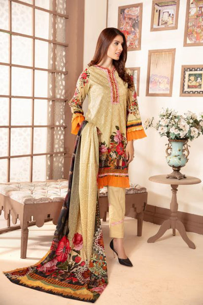 Sm-15 - SAFWA DIGITAL EMBROIDERED 3 PIECE MODA COLLECTION -SHIRT Trouser and Duptta |SAFWA DRESS DESIGN| DRESSES| PAKISTANI DRESSES| SAFWA -SAFWA Brand Pakistan online shopping for Designer Dresses