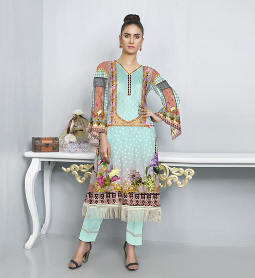 ST 08-SAFWA SANRITA LAWN COLLECTION VOL 1 2020- PRINTED -2 PIECE DRESS