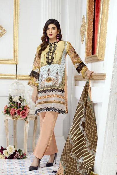 AE-09 - SAFWA ACME COLLECTION VOL 1 2020 - 3 Piece Digital Printed Dress