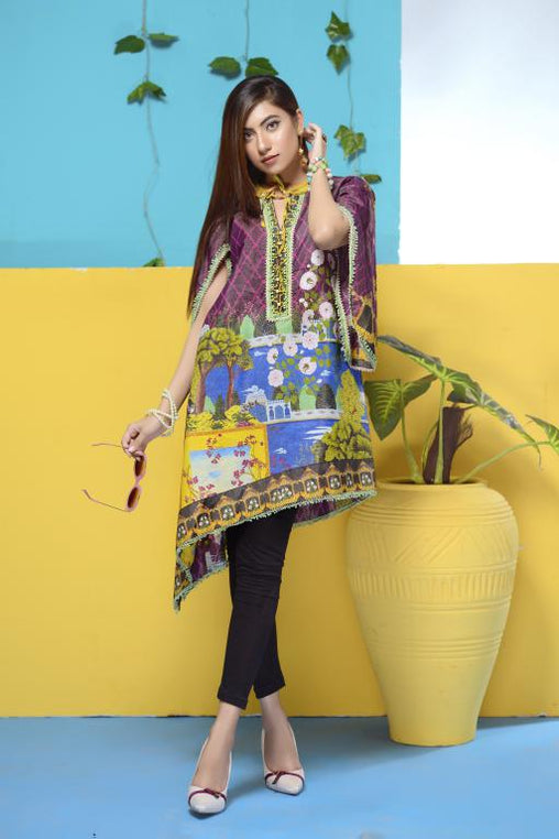 DM-10 -SAFWA DIGITAL PRINTED LAWN-MESURI COLLECTION-DIGITAL LAWN SHIRT - Safwa-Pakistani Dresses-Dresses-Kurti-Shop Online