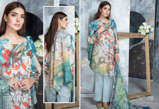 BC-09 - BELLA COLLECTION - 3 PIECE SUIT 2019-Three Piece Suit-SAFWA -SAFWA Brand Pakistan online shopping for Designer Dresses| SAFWA| DRESS| DESIGN| DRESSES| PAKISTANI DRESSES