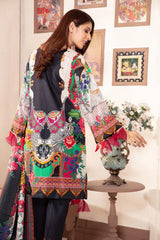 Sm-16 - SAFWA DIGITAL EMBROIDERED 3 PIECE MODA COLLECTION -SHIRT Trouser and Duptta |SAFWA DRESS DESIGN| DRESSES| PAKISTANI DRESSES| SAFWA -SAFWA Brand Pakistan online shopping for Designer Dresses
