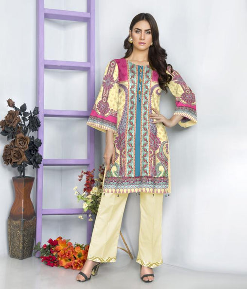 ST 09-SAFWA SANRITA LAWN COLLECTION VOL 1 2020- PRINTED -2 PIECE DRESS