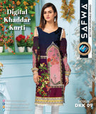 DKK 09- SAFWA DIGITAL KHADDAR -PRINT KURTI COLLECTION - SHIRT| KURTI |  KAMEEZ