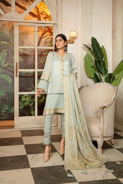 JC-10-SAFWA JACQUARD Lawn Cotton COLLECTION Vol 2 2020 - 3 PIECE DRESS - Safwa | Dresses | Pakistani Dresses | Fashion| Online Shopping