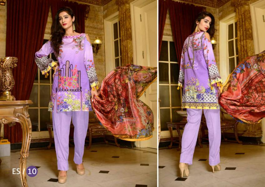 ES-10-SAFWA EVA SATIN COLLECTION vol 1-3 PIECE SUIT-Three Piece Suit Dress Design, Pakistani Dresses, Online Shopping in Pakistan