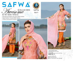 AC-10-SAFWA AWESOME COLLECTION Vol 1-3 PIECE SUIT SAFWA Three Piece Suit Dress Design, Pakistani Dresses, Online Shopping in Pakistan
