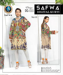 DG 111- SAFWA DIGITAL COTTON PRINT KURTI COLLECTION - VOL 10 2020 -SHIRT KURTI KAMEEZ